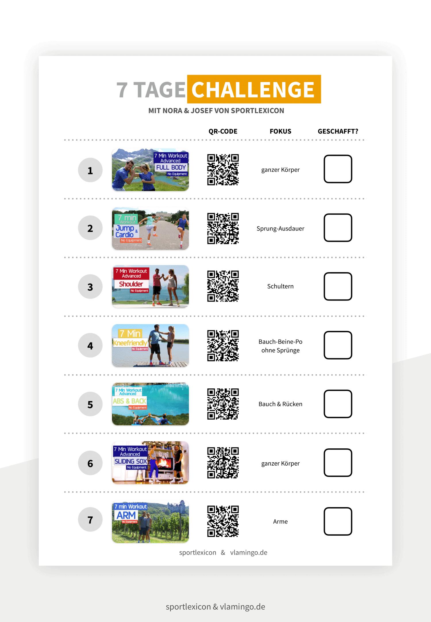 7 Tage Workout-Challenge - Vorschaubild 3