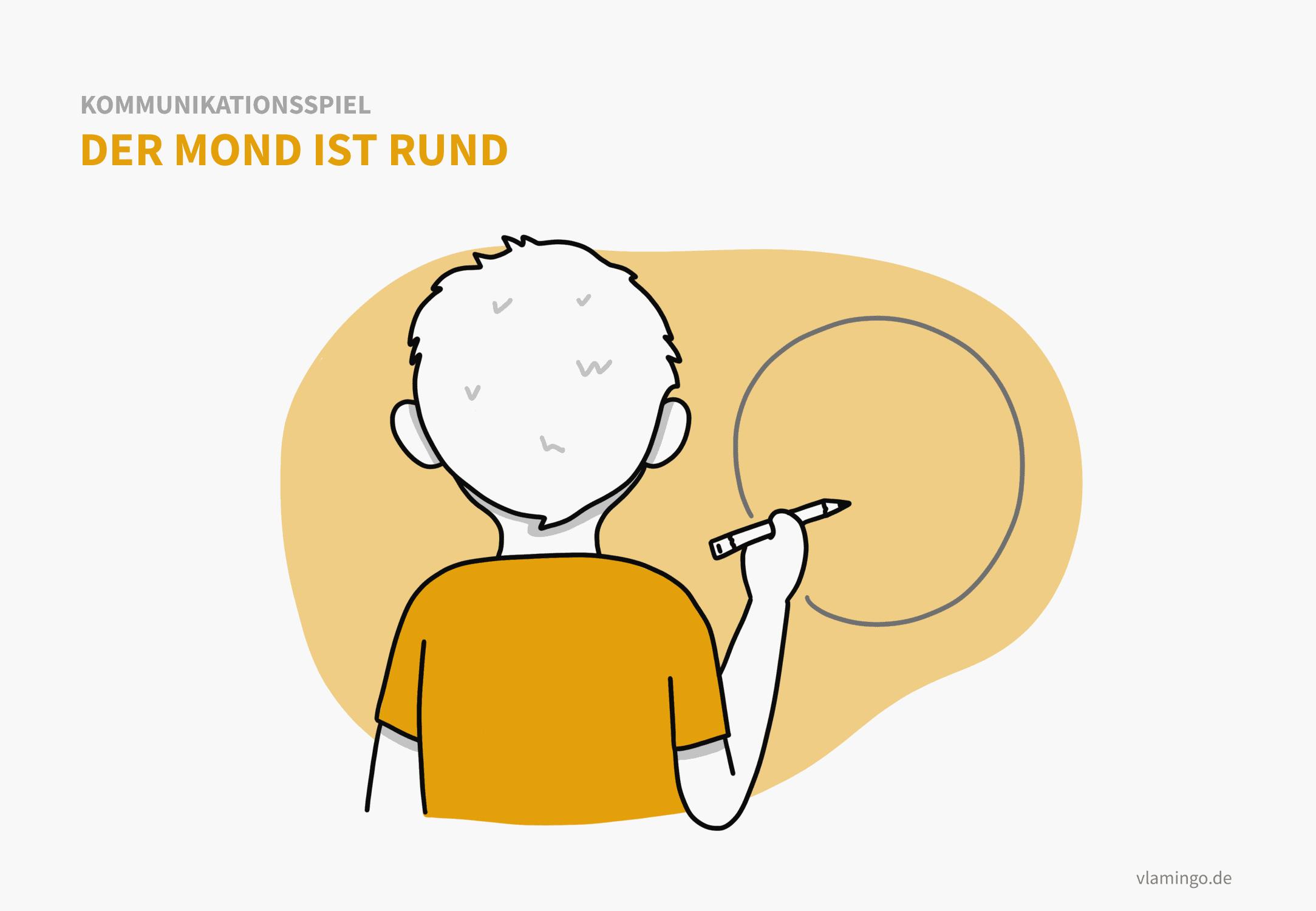Rätselspiel: Der Mond ist rund