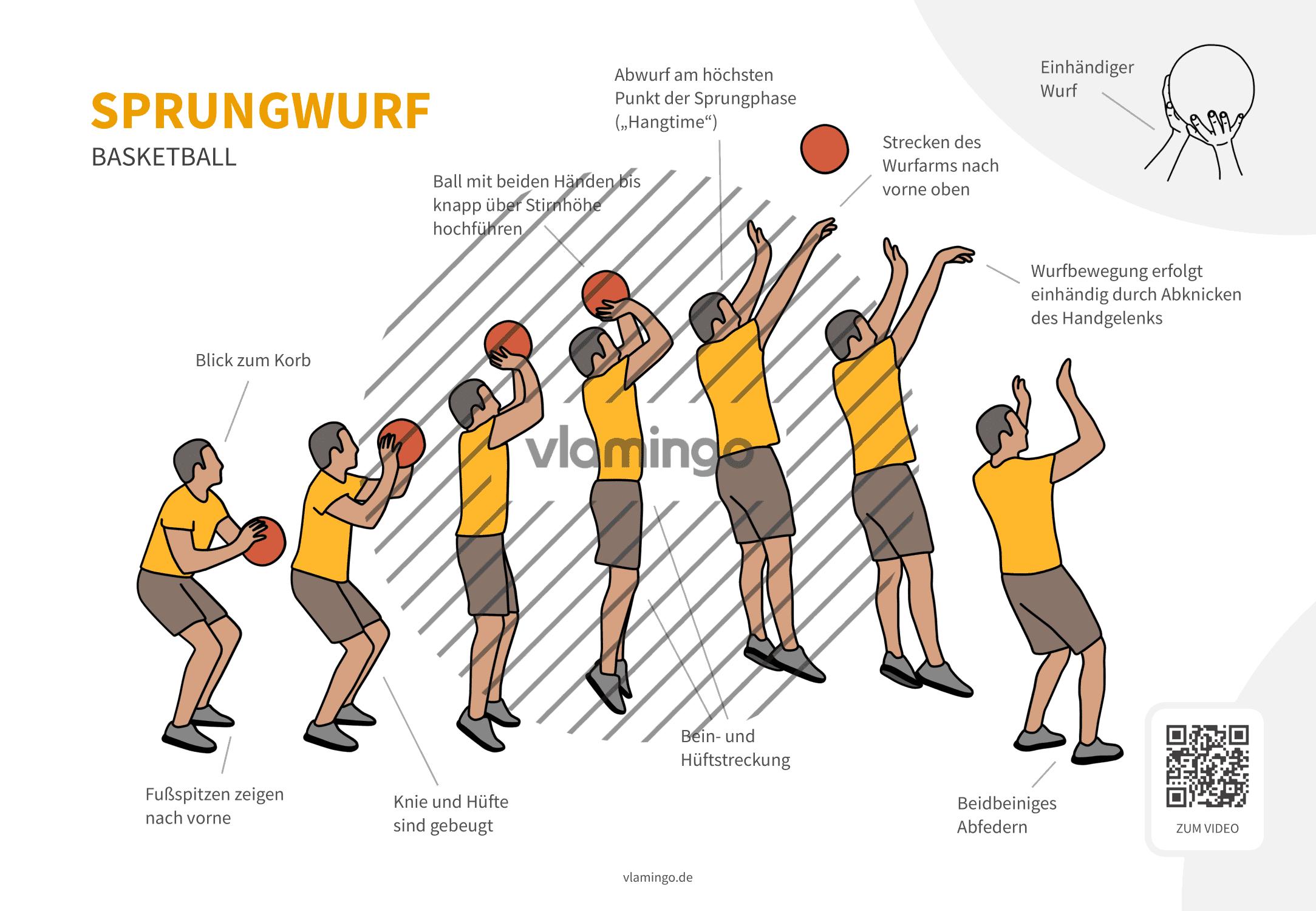 Basketball - Sprungwurf - Technik
