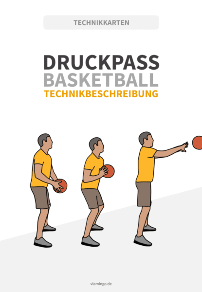 Druckpass im Basketball
