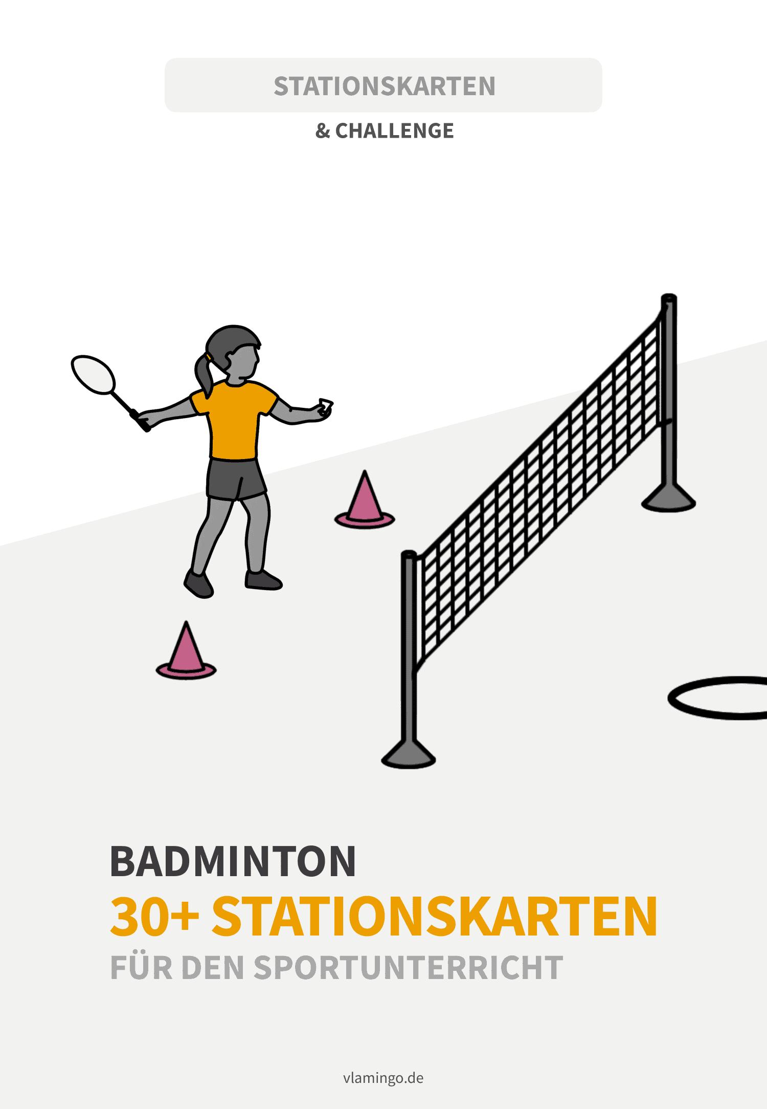 Badminton - 30+ Stationskarten