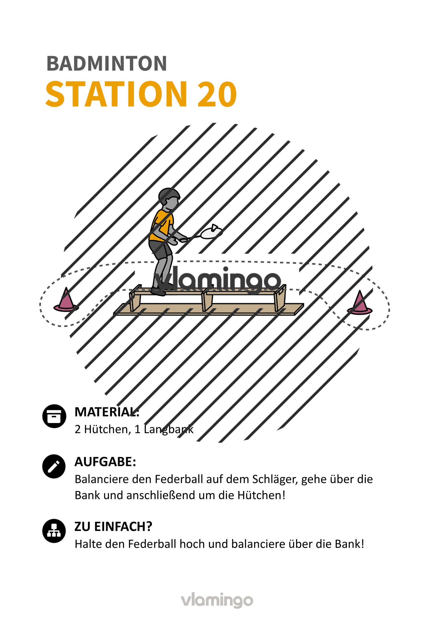 Badminton-Stationskarte 020