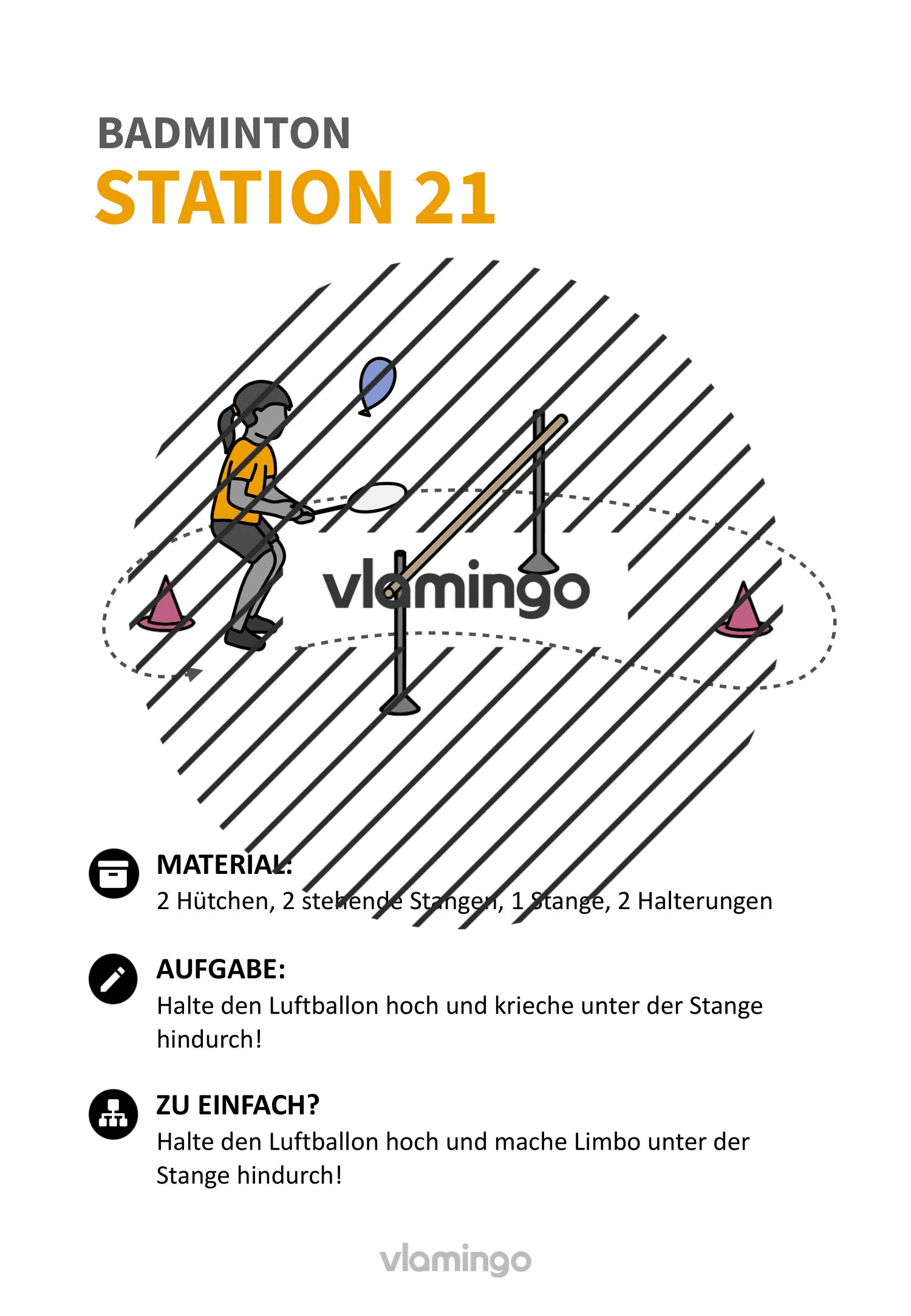 Badminton-Stationskarte 021