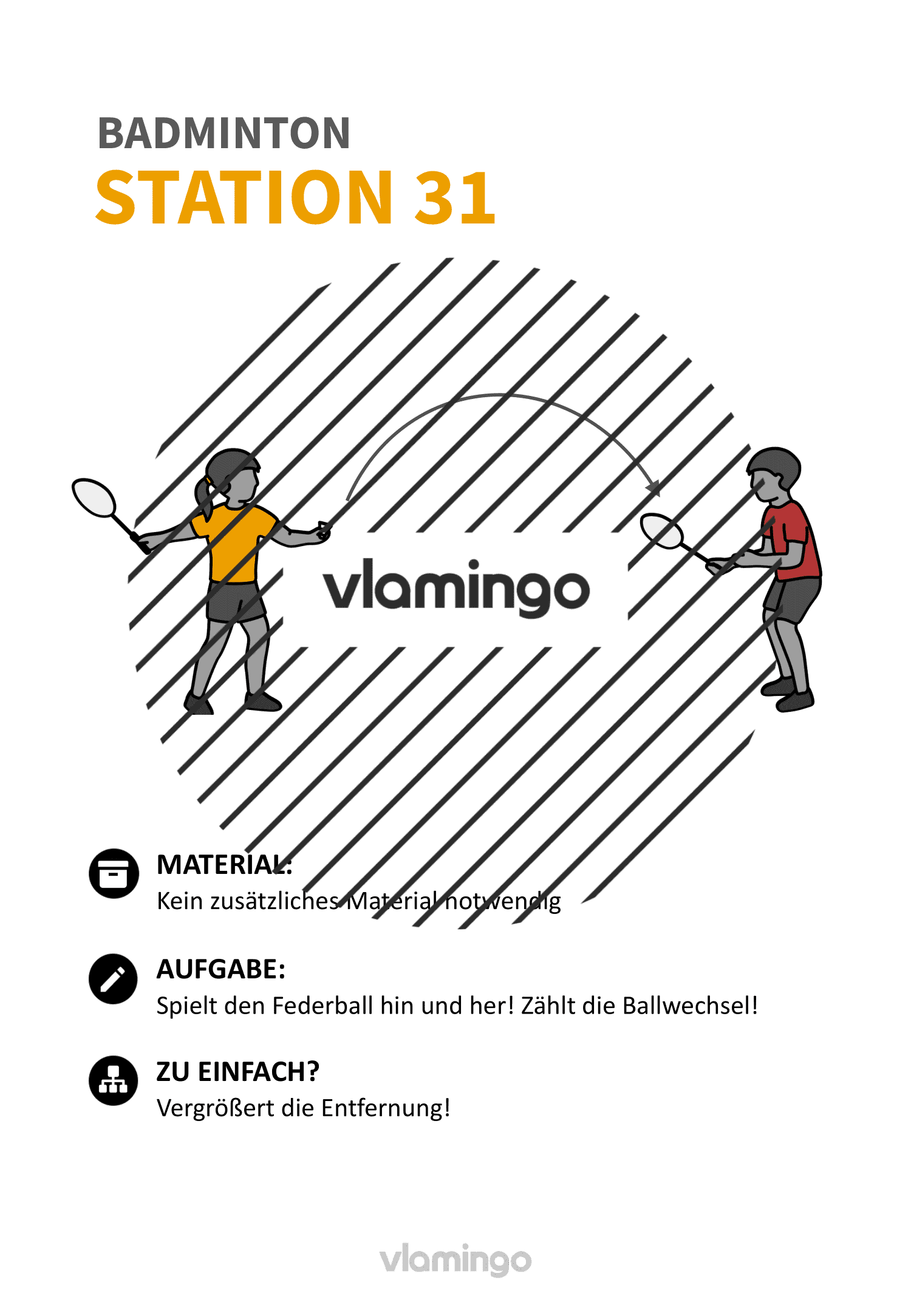 Badminton-Stationskarte 031