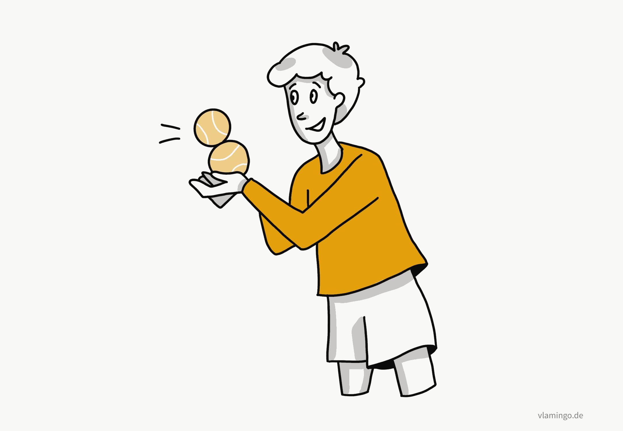 Übungen mit dem Tennisball-2