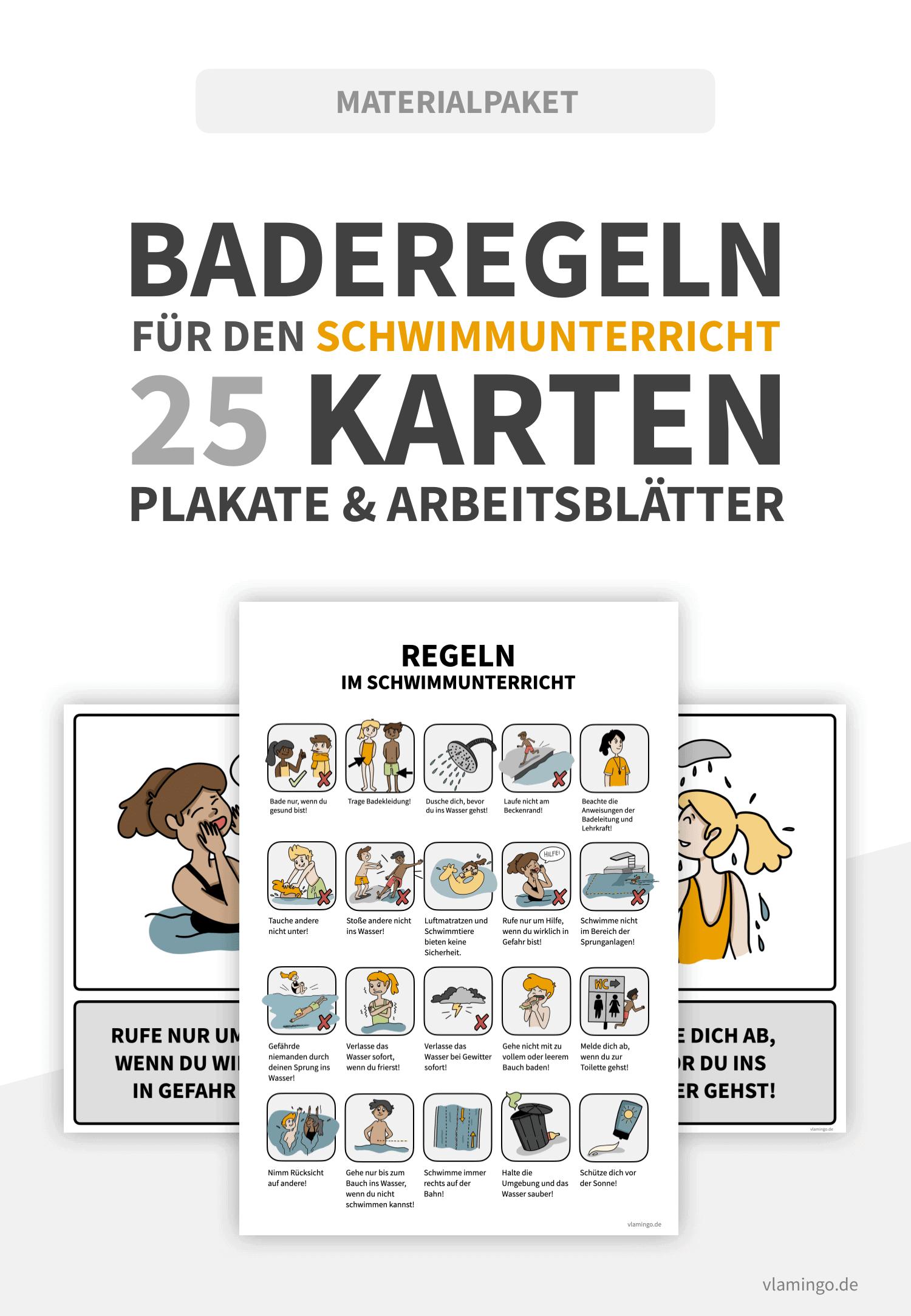 Baderegeln - Deckblatt